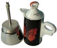 Ancap Espressokocher a-porter mit abnehmbaren Porzellanaufsatz