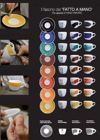 Handbemalte, farbige Tassen von Ancap