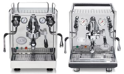 ECM Espressomaschinenmodelle mit verschiedenen Ventilen