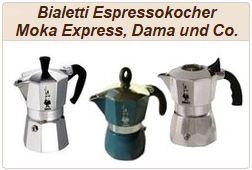 Informationen zu italienischen Aluminium-Espressokochern von Bialetti.
