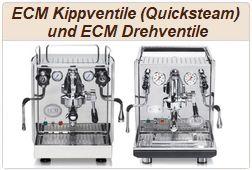 ECM Drehventile und ECM Kippventile.