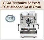 ECM Mechanika IV Profi und ECM Technika Baureihe IV Profi.