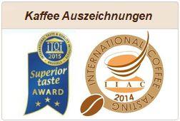 Informationen zu Kaffeeauszeichnungen.