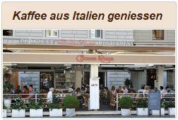 Kaffee aus Italien geniessen.