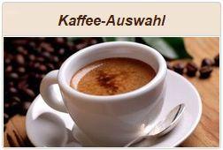 Informationen zu Kaffee- und Espresso-Auswahl.