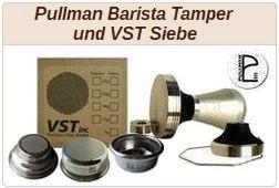 Informationen zu Pullman Barista Tampern und VST Sieben.