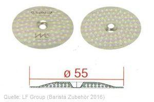 IMS Duschensieb 200 µm mit 55 mm Durchmesser (IMS GA 200 IM).
