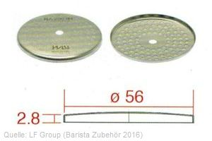 IMS Duschensieb 200 µm mit 56 mm Durchmesser (IMS RA 200 IM).