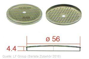 IMS Duschensieb 35 µm mit 56 mm Durchmesser (IMS RA 35 WM).