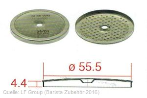 IMS Duschensieb 35 µm mit 55,5 mm Durchmesser (IMS SI 35 WM).