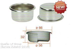 IMS Präzisionssieb 2 bzw. 3 Tassen für 18/20 gramm Höhe 32 mm.