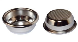 IMS Präzisionssieb SUPERFINE 2 Tassen für 14/20 gramm Höhe 26 mm.