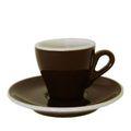 Italienische ACF Espressotasse braun, FAC Modell 46 marrone scuro