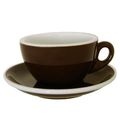 Dickwandige braune ACF Cappuccinotasse, FAC Modell 58 marrone scuro
