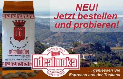 Idealmoka: Espresso aus der Toscana jetzt bestellen und probieren!