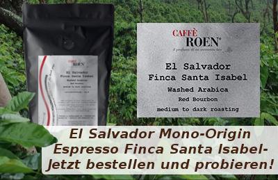 Jetzt Kaffee aus El Salvador von der Finca Santa Isabell bestellen und probieren!